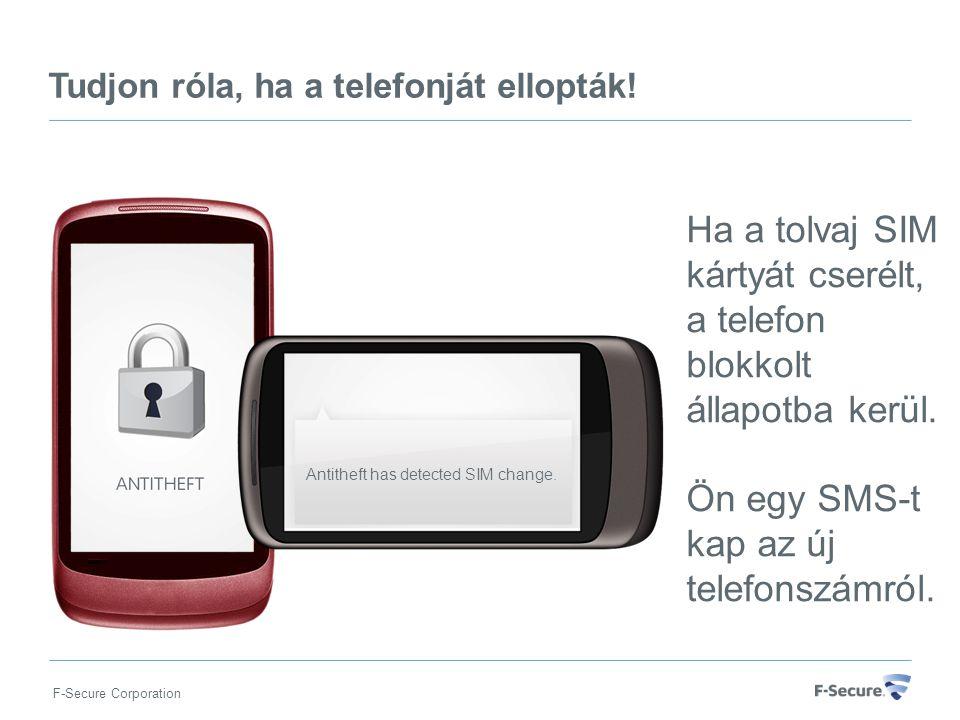 F-Secure Corporation Antitheft has detected SIM change.