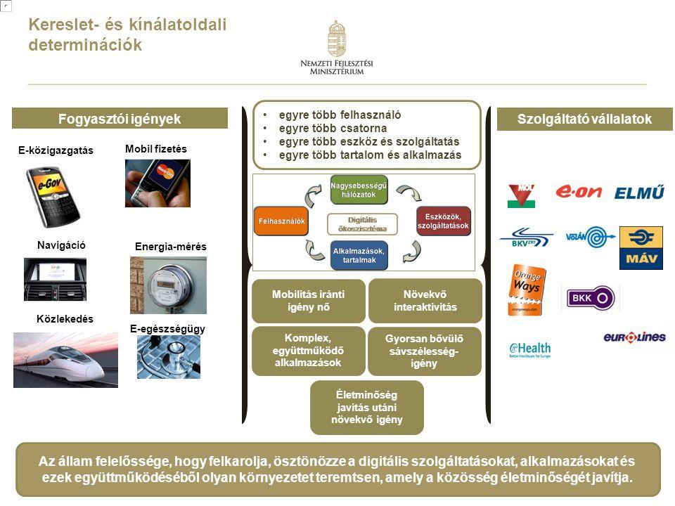 2 Fogyasztói igényekSzolgáltató vállalatok E-közigazgatás Navigáció Mobil fizetés Energia-mérés E-egészségügy Kereslet- és kínálatoldali determinációk
