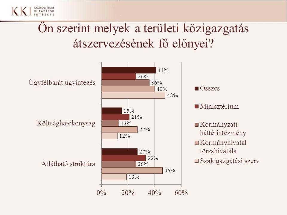 Ön szerint melyek a területi közigazgatás átszervezésének fő előnyei?