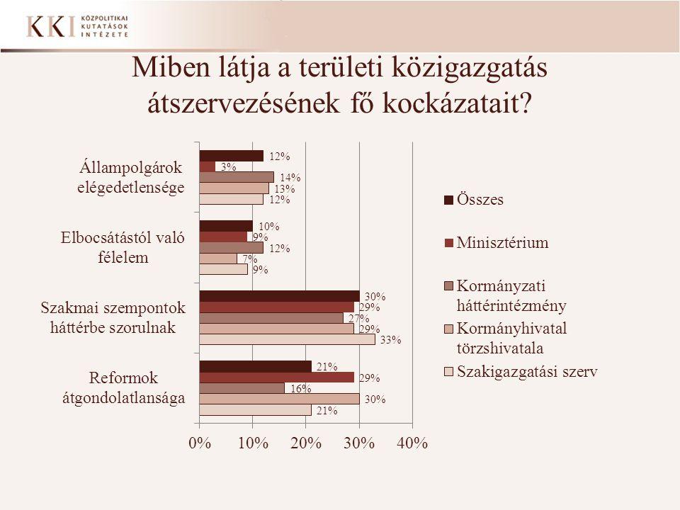 Miben látja a területi közigazgatás átszervezésének fő kockázatait?