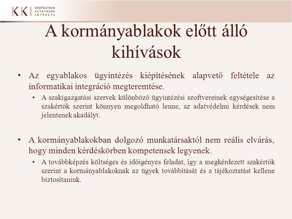 A közigazgatás értékelésének fő dimenziói Az eljárások méltányossága alapján Különösen a hátrányos helyzetűek (pl.