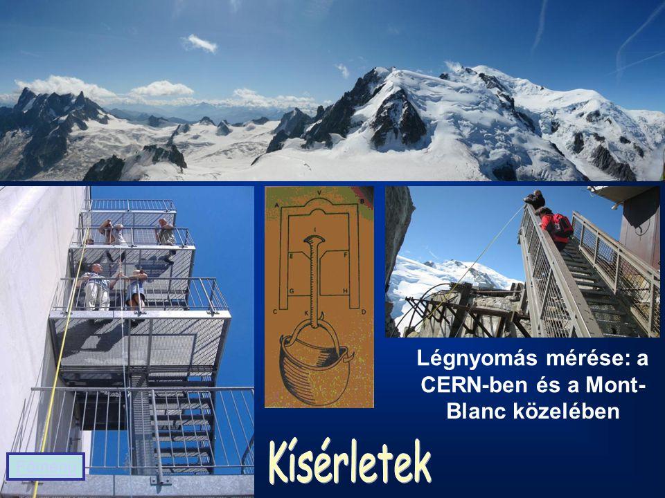 Légnyomás mérése: a CERN-ben és a Mont- Blanc közelében Főmenü