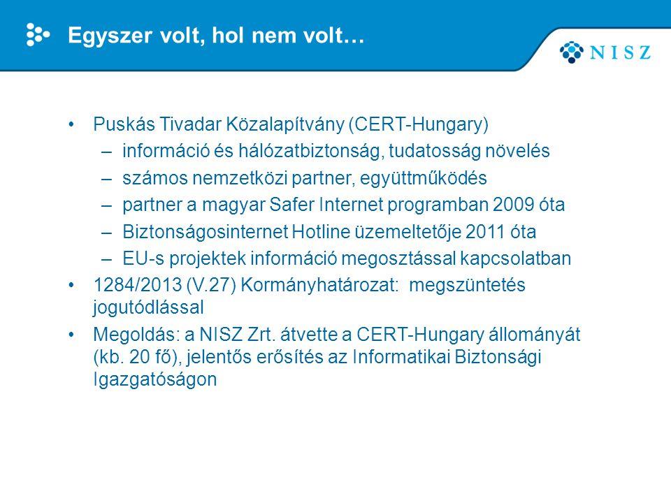 Egyszer volt, hol nem volt… •Puskás Tivadar Közalapítvány (CERT-Hungary) –információ és hálózatbiztonság, tudatosság növelés –számos nemzetközi partne