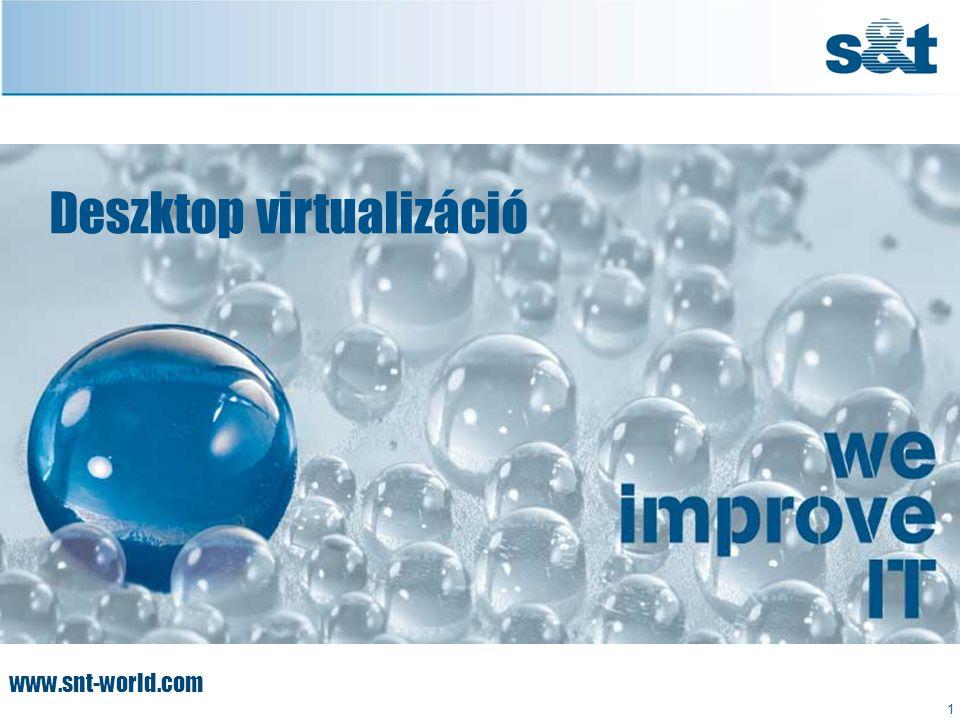 www.snt-world.com Deszktop virtualizáció 1
