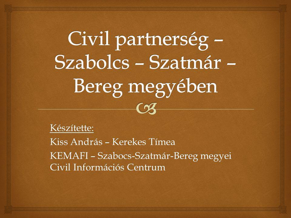 Készítette: Kiss András – Kerekes Tímea KEMAFI – Szabocs-Szatmár-Bereg megyei Civil Információs Centrum