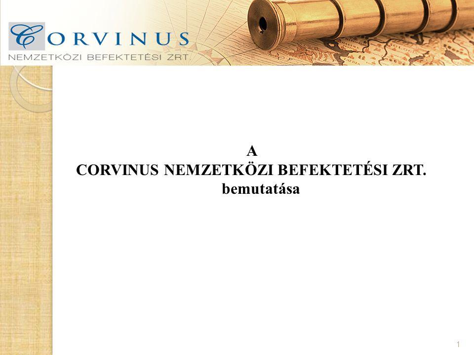 A CORVINUS NEMZETKÖZI BEFEKTETÉSI ZRT. bemutatása 1