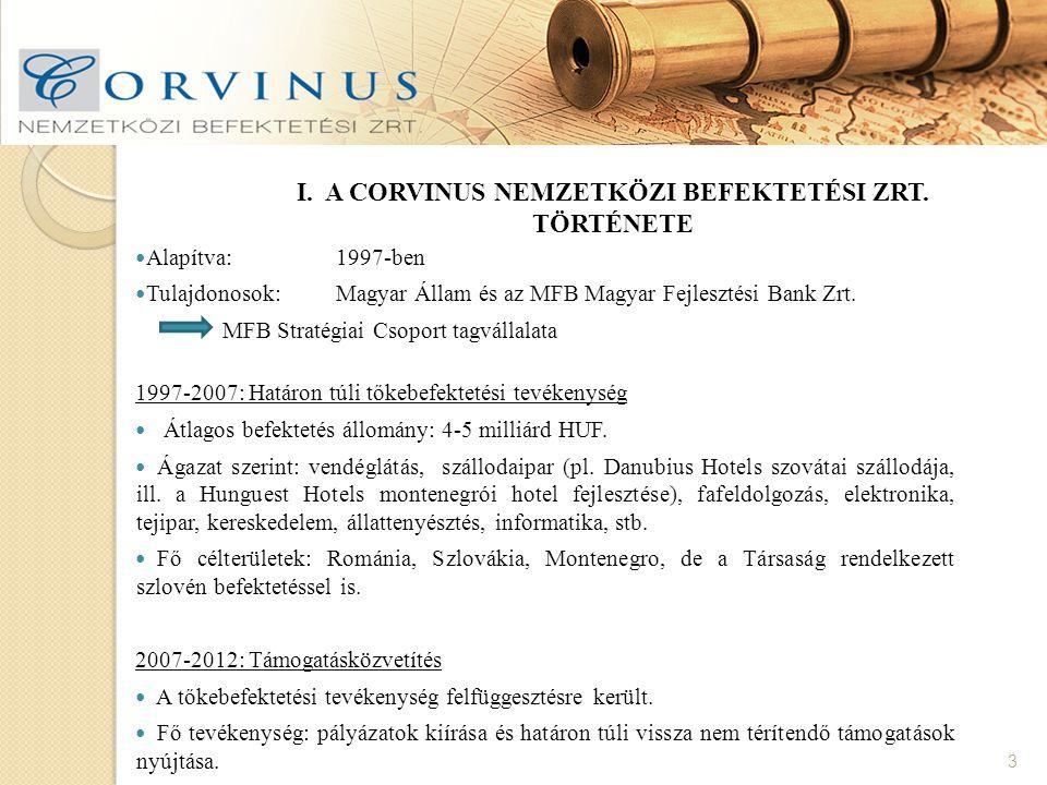 V. A CORVINUS ZRT. PARTNEREI 14