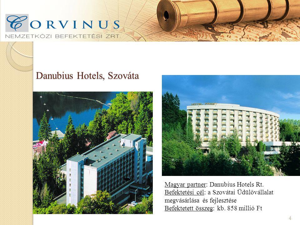 Danubius Hotels, Szováta 4 Magyar partner: Danubius Hotels Rt.