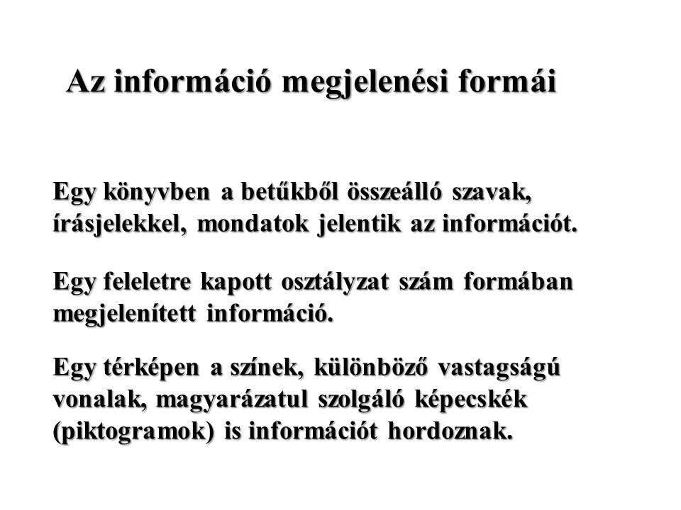 Egy feleletre kapott osztályzat szám formában megjelenített információ.