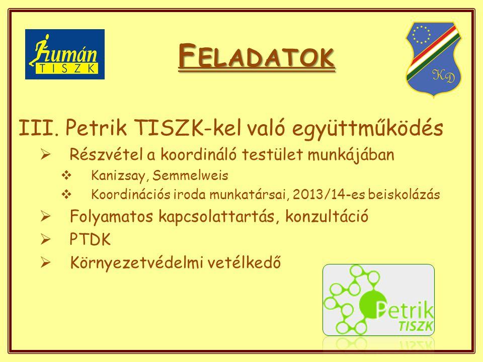 F ELADATOK III.