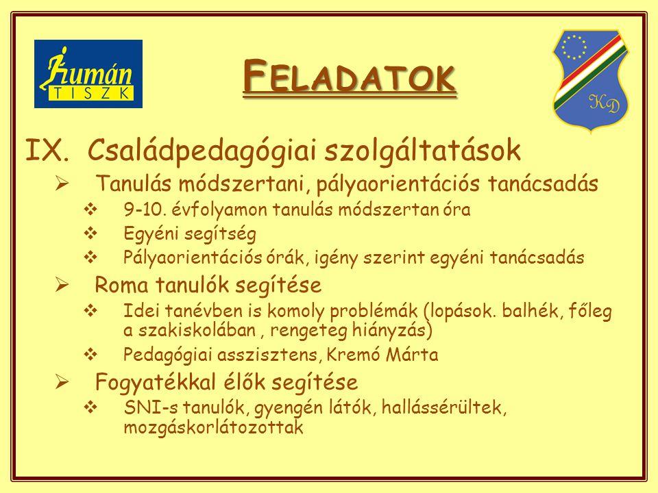 F ELADATOK IX.