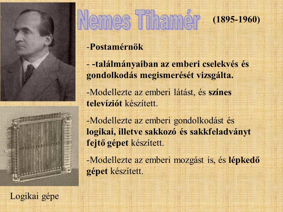 (1895-1960) -Postamérnök - -találmányaiban az emberi cselekvés és gondolkodás megismerését vizsgálta. -Modellezte az emberi látást, és színes televízi