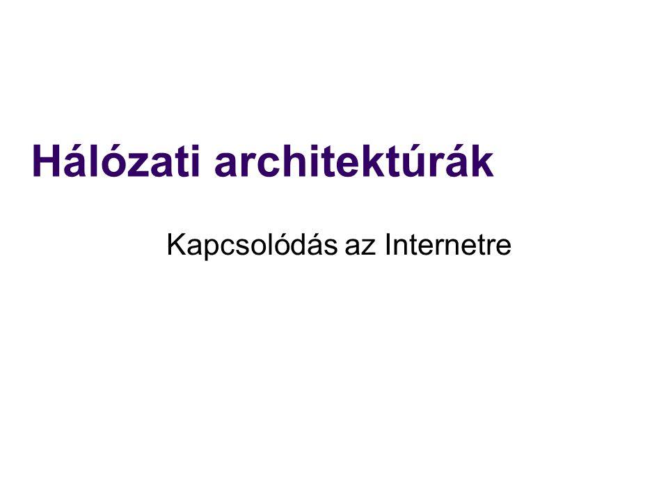 Hálózati architektúrák Kapcsolódás az Internetre