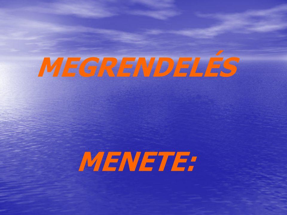 MEGRENDELÉS MENETE: