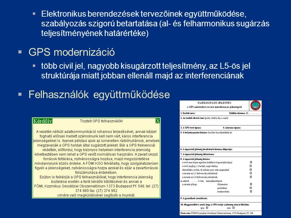  Elektronikus berendezések tervezőinek együttműködése, szabályozás szigorú betartatása (al- és felharmonikus sugárzás teljesítményének határértéke) 