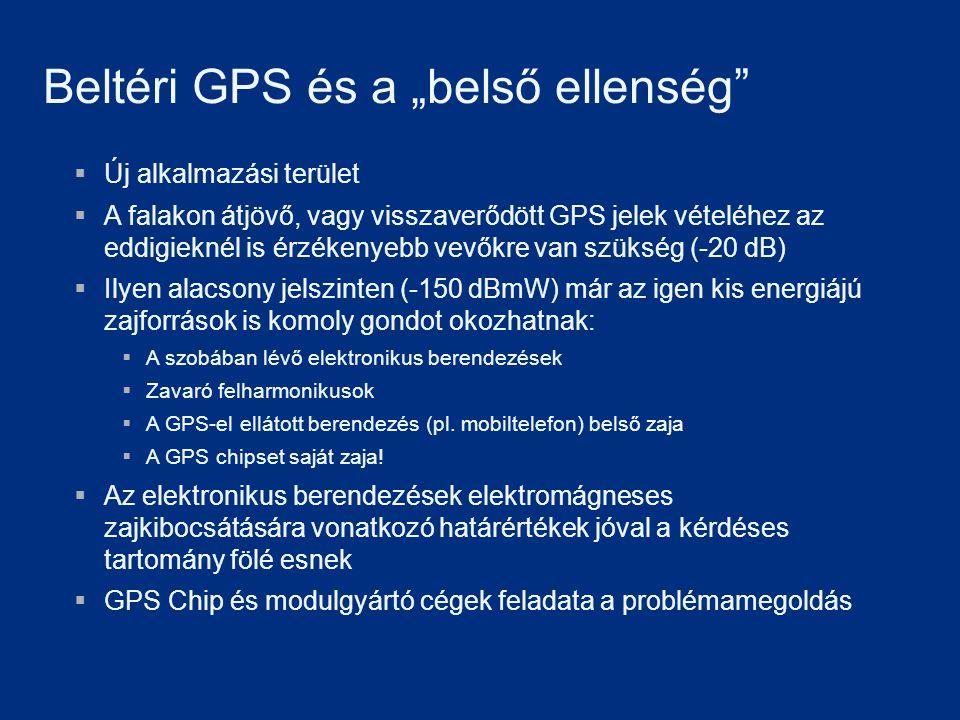 """Beltéri GPS és a """"belső ellenség""""  Új alkalmazási terület  A falakon átjövő, vagy visszaverődött GPS jelek vételéhez az eddigieknél is érzékenyebb v"""
