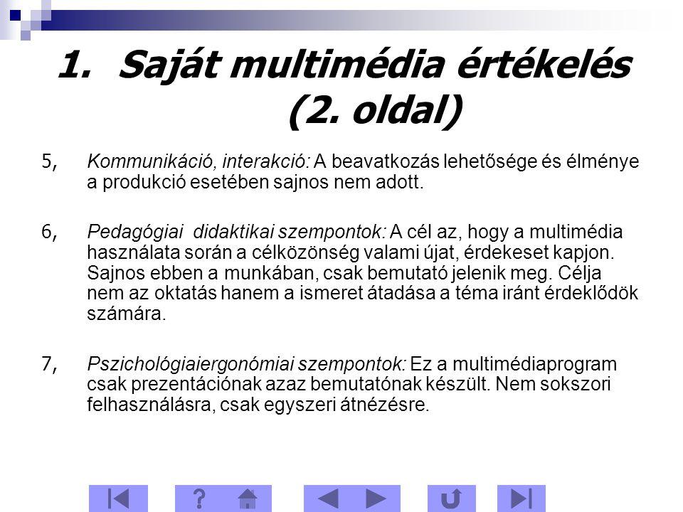1.Saját multimédia értékelés (2.
