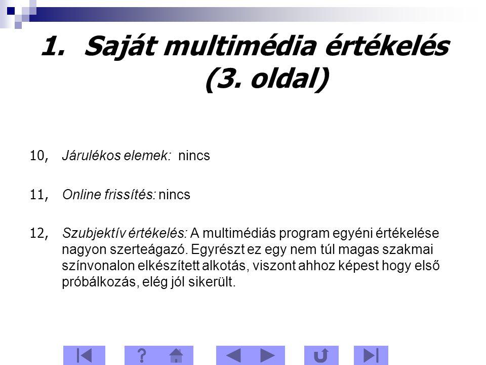 1.Saját multimédia értékelés (3.
