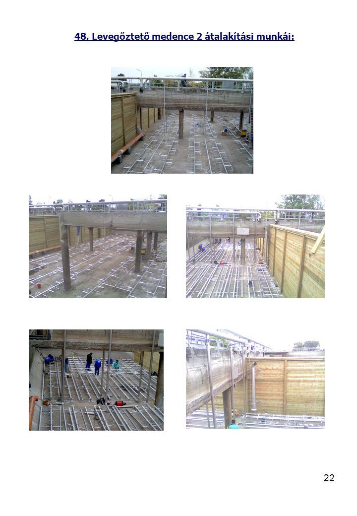 22 48, Levegőztető medence 2 átalakítási munkái: