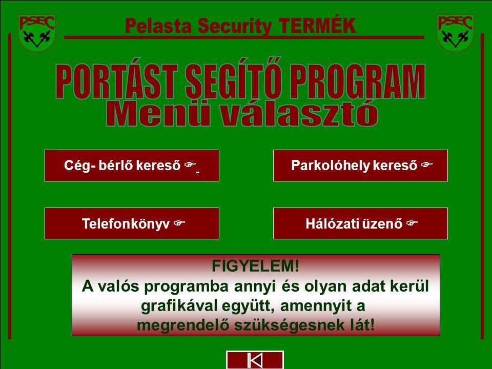 Megbízó logója ANONYM IRODAHÁZ - PELASTA Security FIGYELEM.
