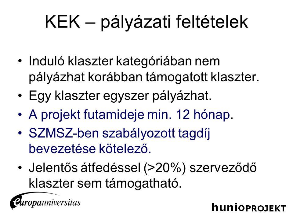 KEK – projekt előkészítése •2011.