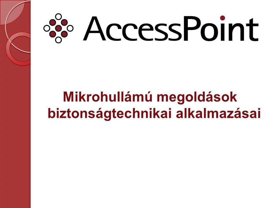 Tartalomjegyzék Cégismertető A mikrohullámról általában -Mikrohullámú frekvenciafelosztás -Mikrohullámú rendszerek sajátosságai -Rendszertopológiák -A mikrohullám előnyei a biztonságtechnikában Mikrohullámú adatátviteli hálózatok -Roamingolható hálózatok -Térfigyelő rendszerek -Napelemes megoldások