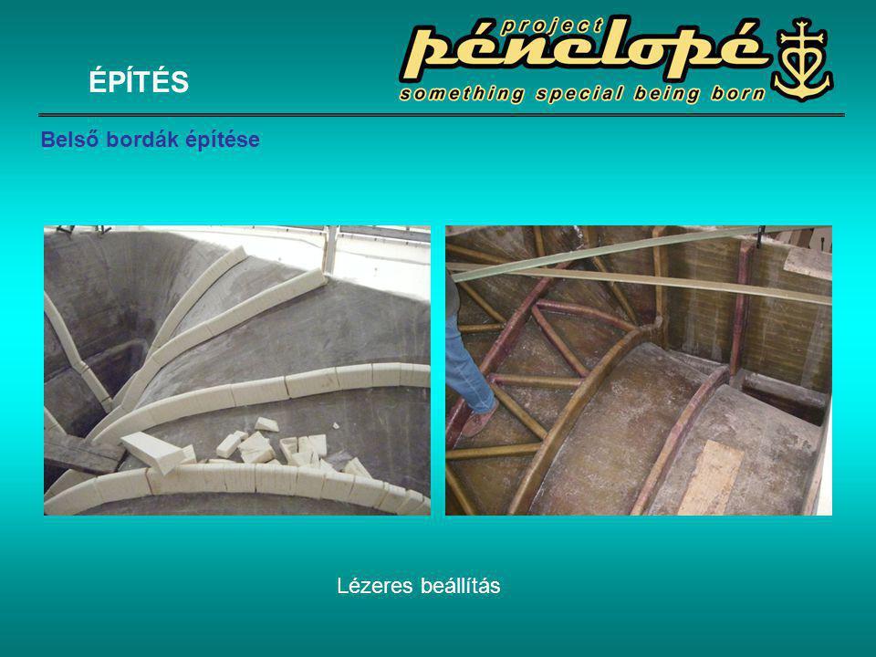 Lézeres beállítás ÉPÍTÉS Belső bordák építése