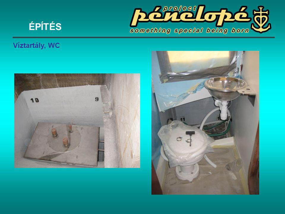 ÉPÍTÉS Víztartály, WC