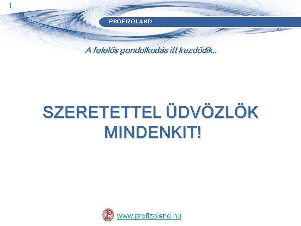 A felelős gondolkodás itt kezdődik..www.profizoland.hu Kicsit másképp, mint mások..