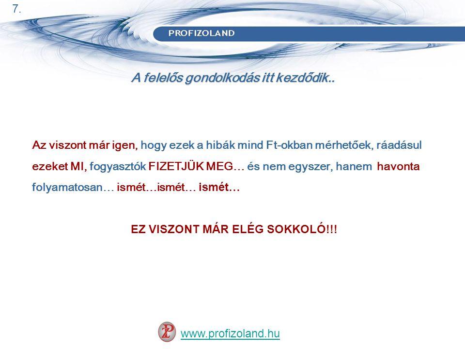 A felelős gondolkodás itt kezdődik.. www.profizoland.hu 7.