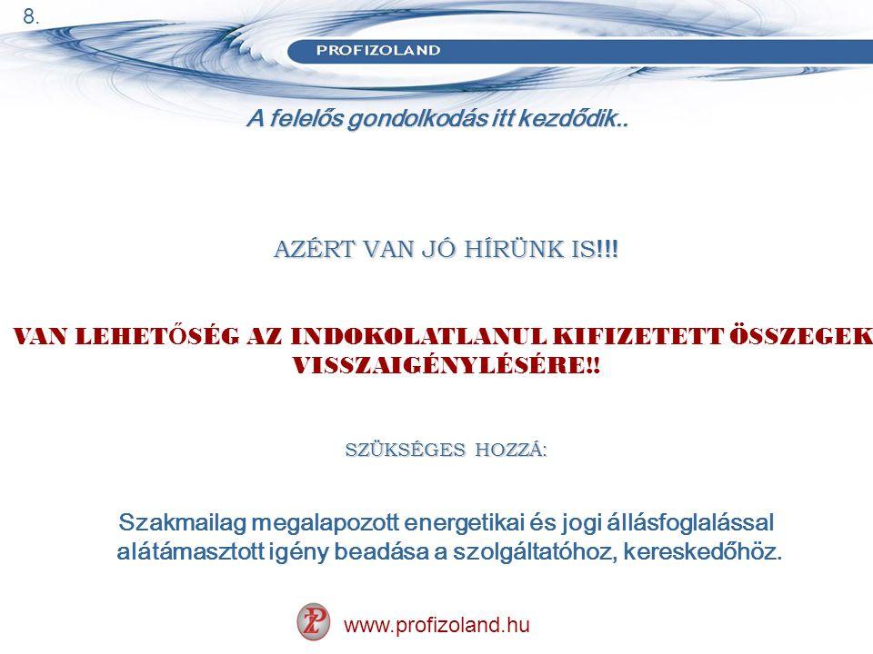 A felelős gondolkodás itt kezdődik.. www.profizoland.hu AZÉRT VAN JÓ HÍRÜNK IS !!.