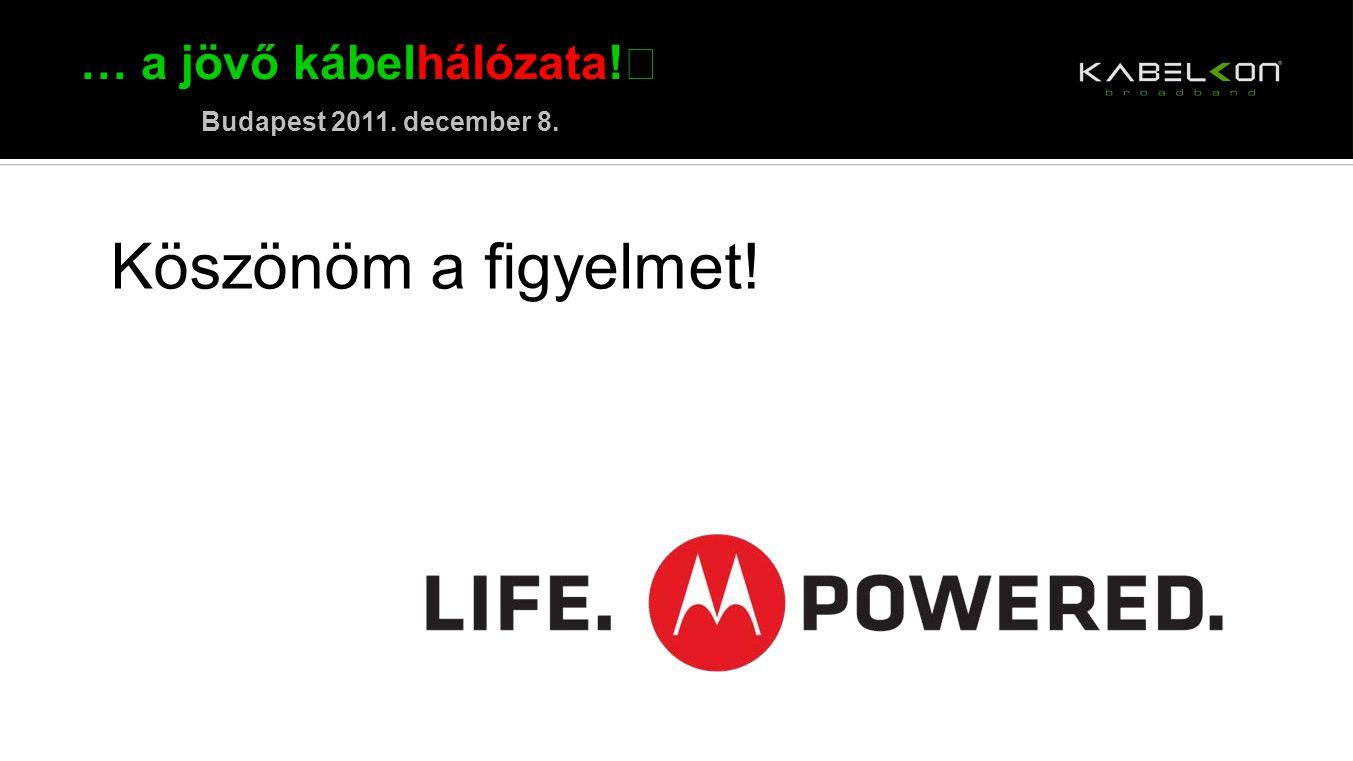 … a jövő kábelhálózata! Budapest 2011. december 8. Köszönöm a figyelmet!