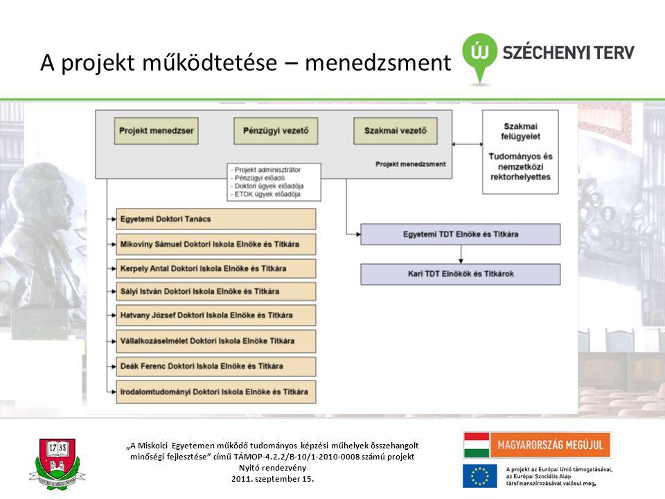 """""""A Miskolci Egyetemen működő tudományos képzési műhelyek összehangolt minőségi fejlesztése című TÁMOP-4.2.2/B-10/1-2010-0008 számú projekt Nyitó rendezvény 2011."""