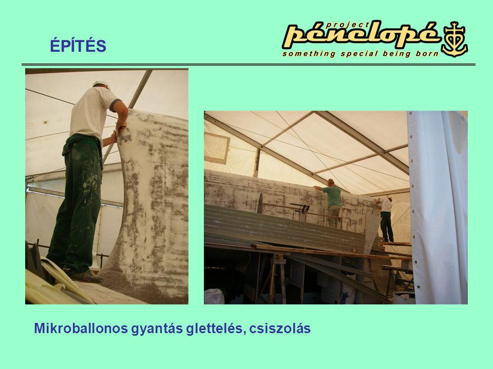 Mikroballonos gyantás glettelés, csiszolás ÉPÍTÉS