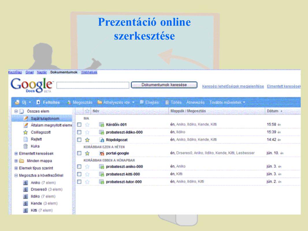 Prezentáció online szerkesztése