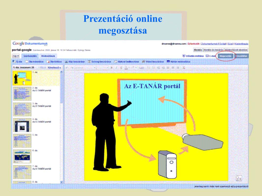 Prezentáció online megosztása