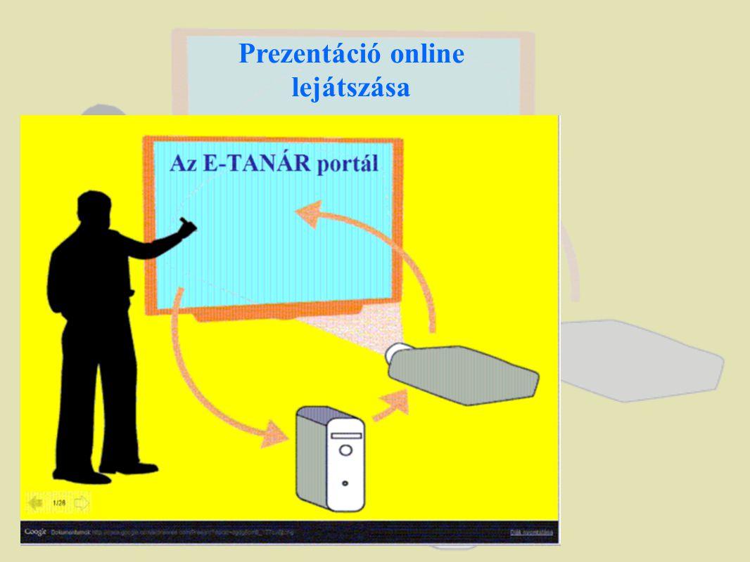 Prezentáció online lejátszása