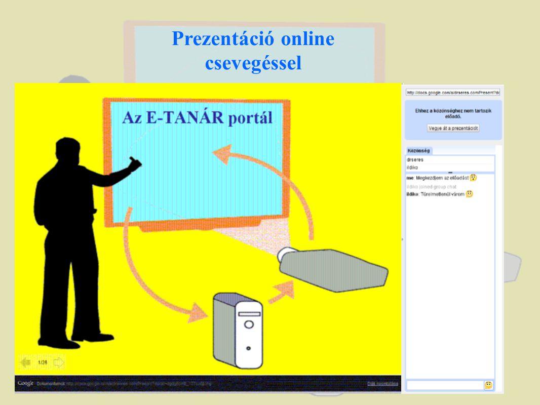 Prezentáció online csevegéssel