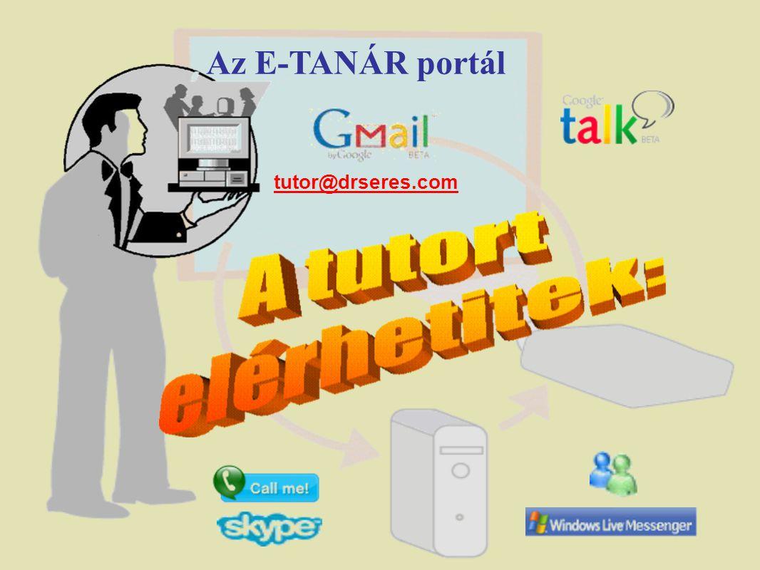 Az E-TANÁR portál tutor@drseres.com