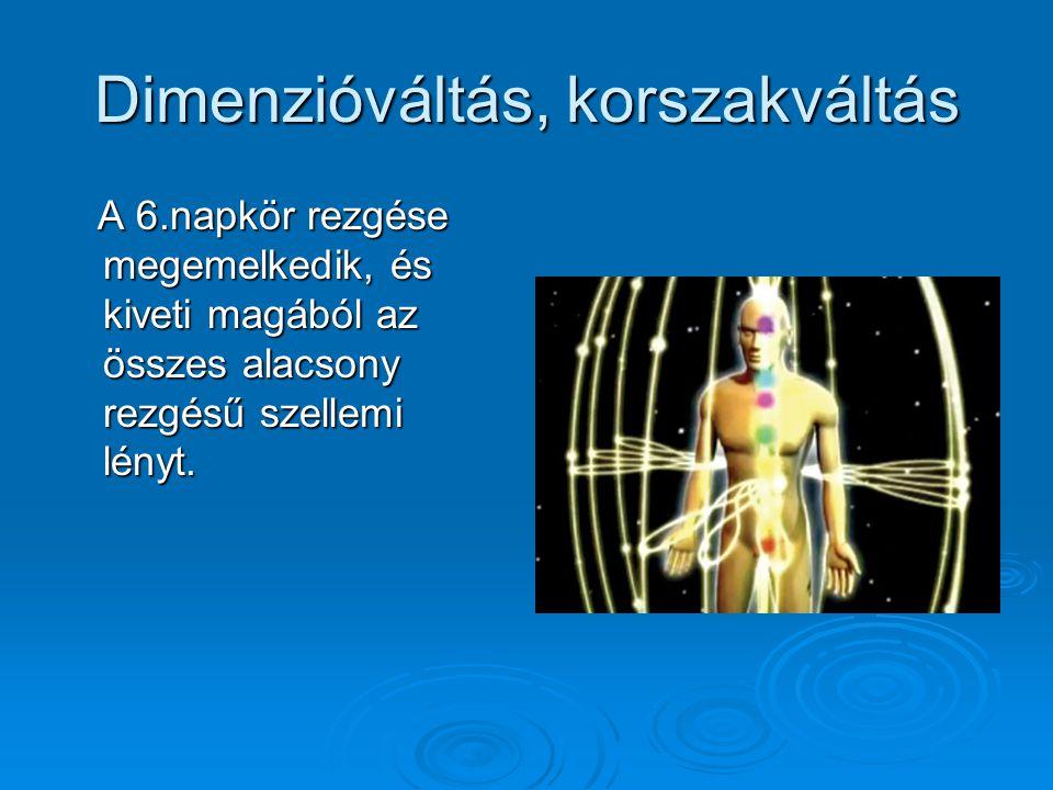 Dimenzióváltás, korszakváltás A 6.napkör rezgése megemelkedik, és kiveti magából az összes alacsony rezgésű szellemi lényt.