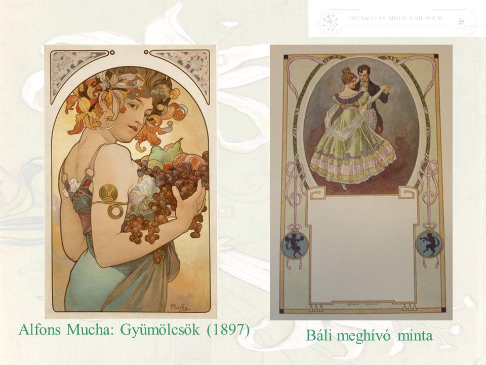 Alfons Mucha: Gyümölcsök (1897) Báli meghívó minta