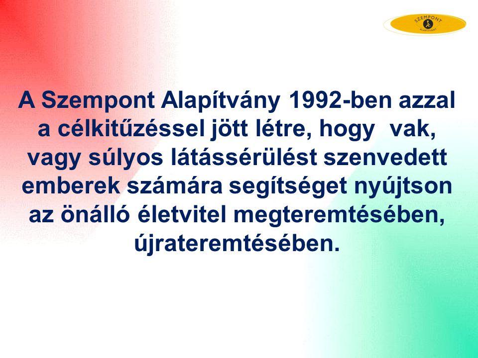 A Szempont Alapítvány 1992-ben azzal a célkitűzéssel jött létre, hogy vak, vagy súlyos látássérülést szenvedett emberek számára segítséget nyújtson az
