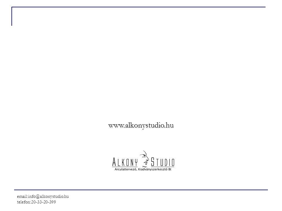 email:info@alkonystudio.hu telefon:20-33-20-399 www.alkonystudio.hu