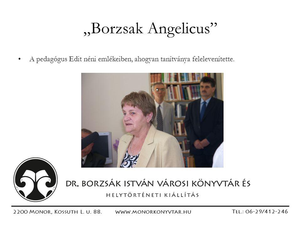"""""""Borzsak Angelicus"""" •A pedagógus Edit néni emlékeiben, ahogyan tanítványa felelevenítette."""