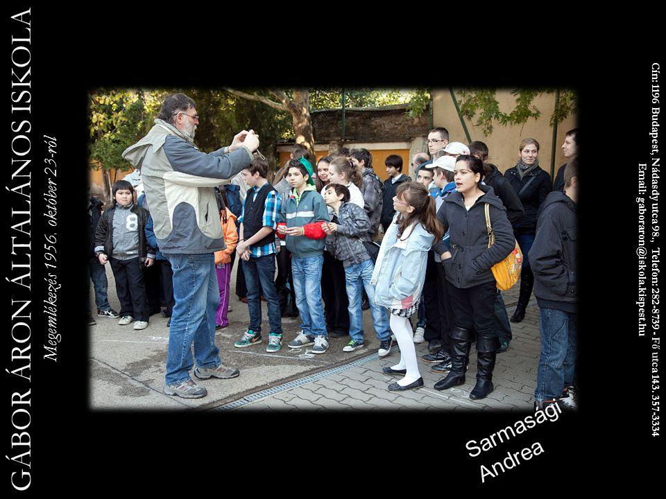 Cín: 1196 Budapest, Nádasdy utca 98., Telefon: 282-8739 - Fő utca 143.