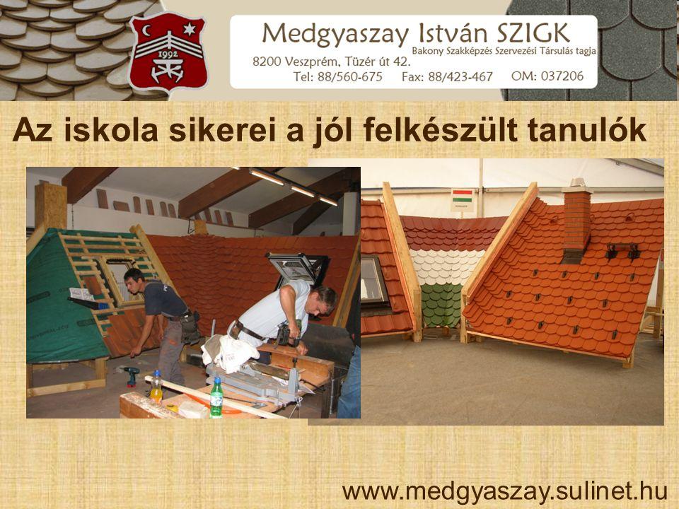 Az iskola sikerei a jól felkészült tanulók www.medgyaszay.sulinet.hu