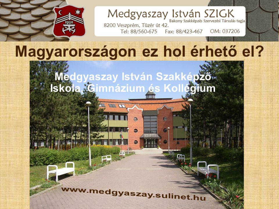 www.medgyaszay.sulinet.hu Iskola bemutatása, tanműhely
