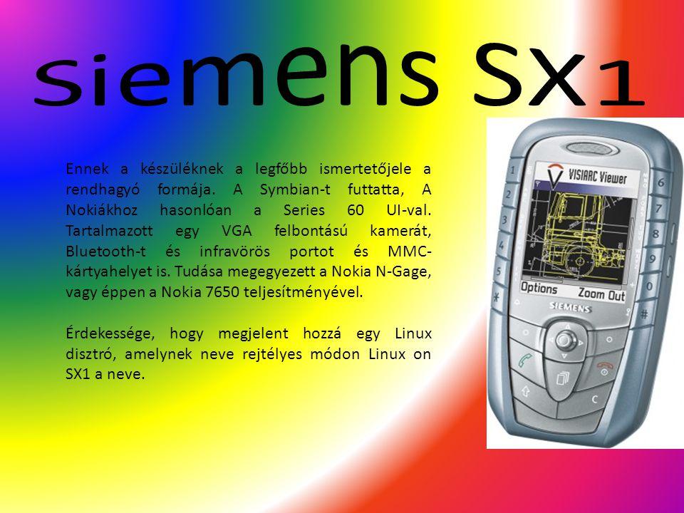 Ennek a készüléknek a legfőbb ismertetőjele a rendhagyó formája. A Symbian-t futtatta, A Nokiákhoz hasonlóan a Series 60 UI-val. Tartalmazott egy VGA
