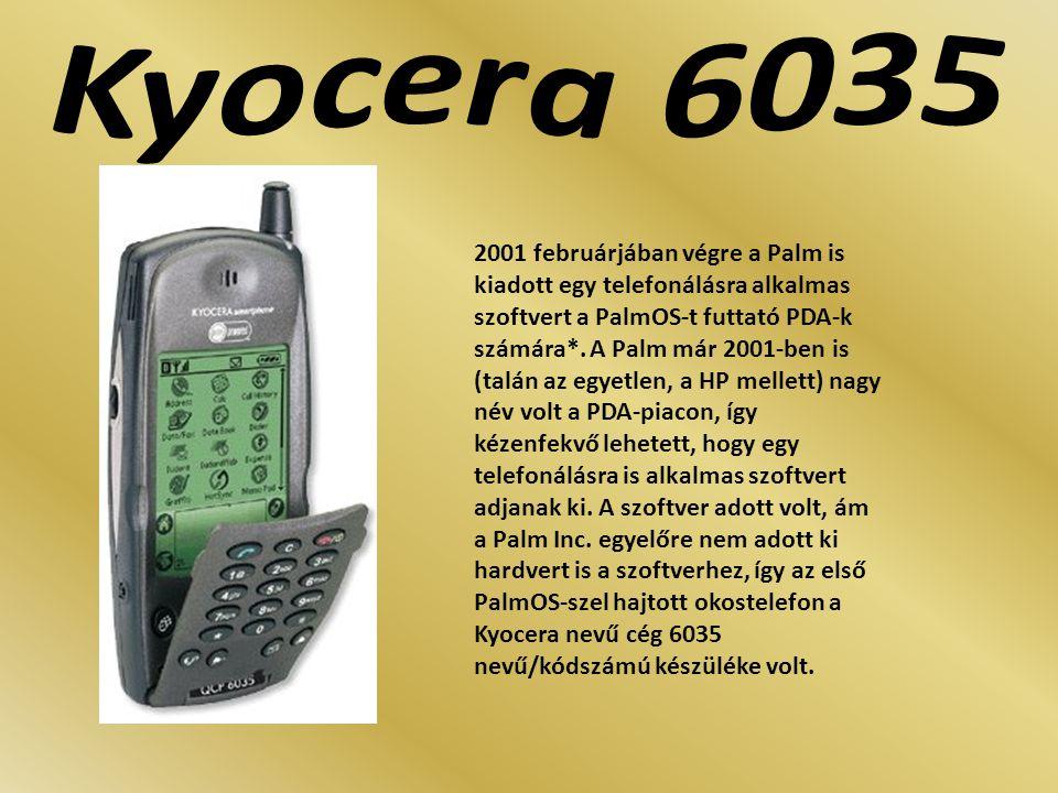 2001 februárjában végre a Palm is kiadott egy telefonálásra alkalmas szoftvert a PalmOS-t futtató PDA-k számára*. A Palm már 2001-ben is (talán az egy