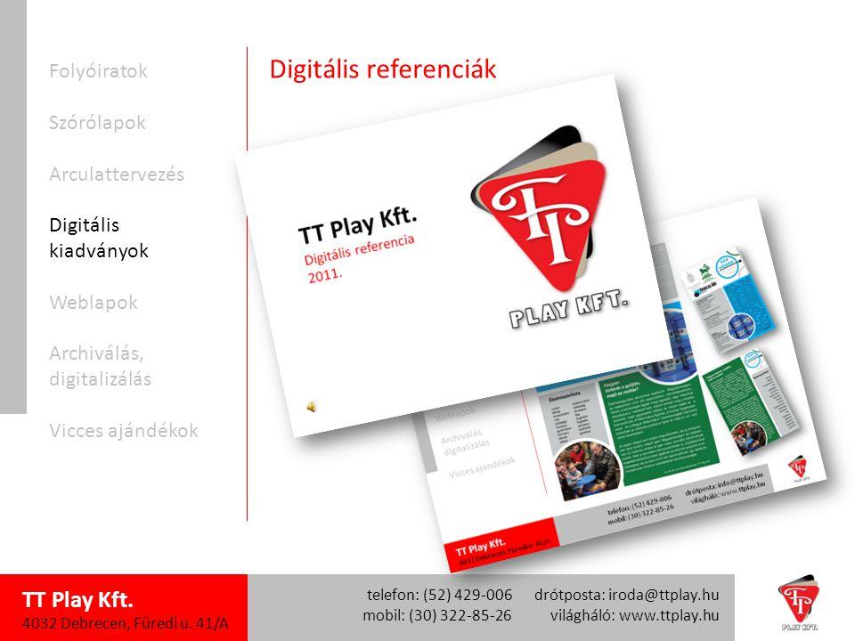 TT Play Kft.4032 Debrecen, Füredi u.